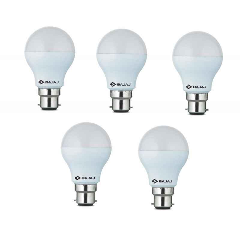 Bajaj 9W B-22 LED Bulbs (Pack of 5)
