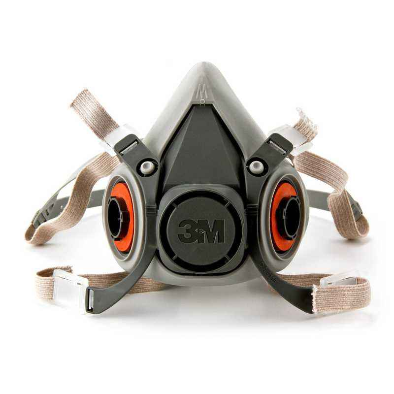 3M Reusable Half Face Mask Respirator, 6200