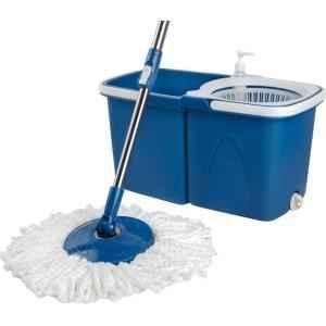 Gala Twin Blue & White Bucket Spin Mop Set