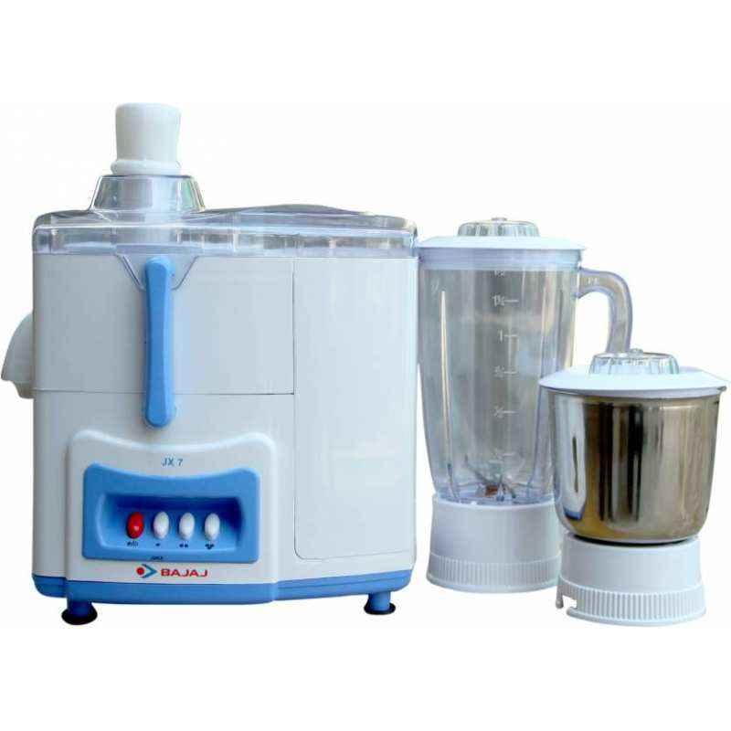 Bajaj 450W Majesty JX7 White & Blue Juicer Mixer Grinder