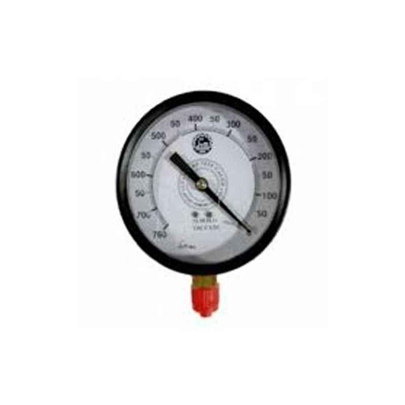 Bellstone 0-5000psi Mild Steel Black Pressure Gauge, 7899996
