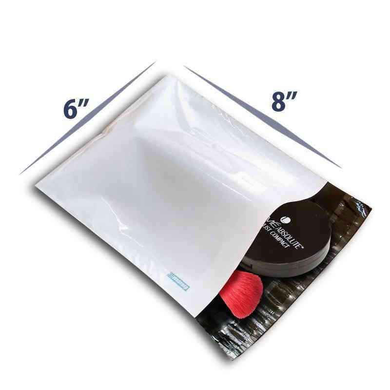 DynaCorp 50 Micron Tamper Proof Courier Bags with POD, Size: 6x8 inch (Pack of 100)
