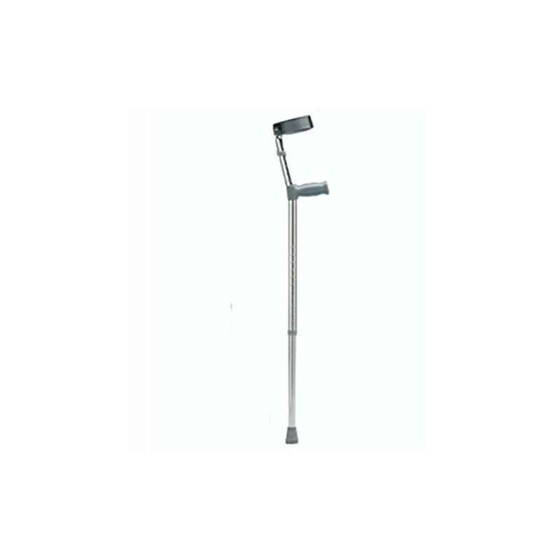Shakuntla Black Elbow Support Aluminium Coted Walking Stick