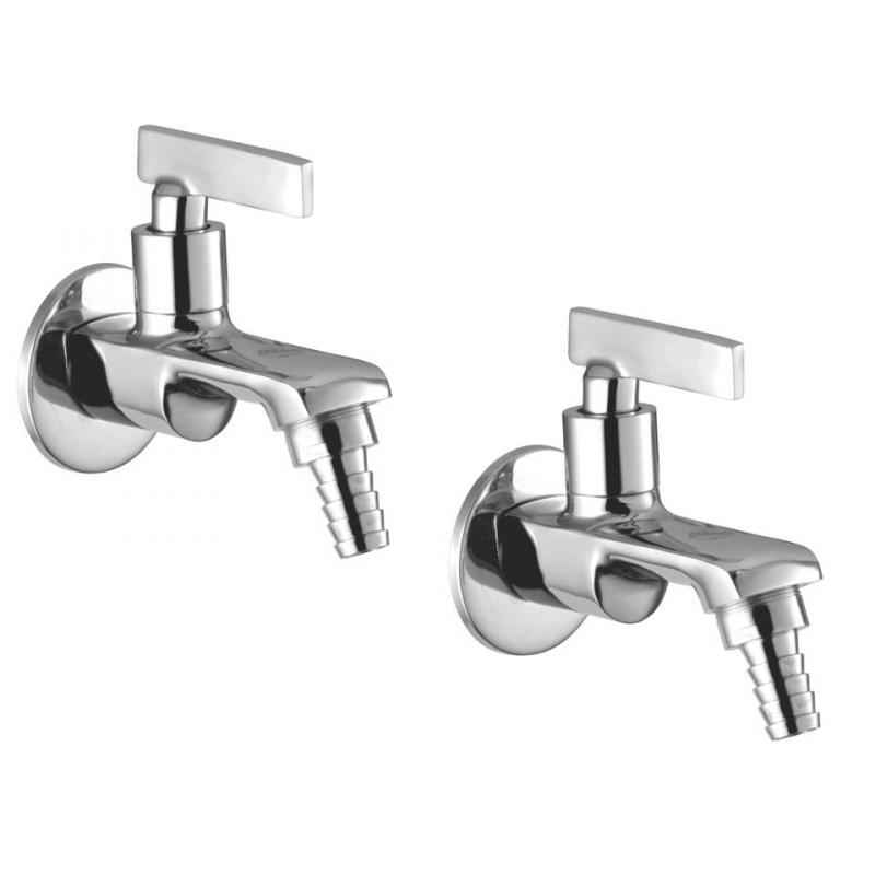 Jainex Step Nozzle Bibcock with Wall Flange, STP-2716-S2 (Pack of 2)