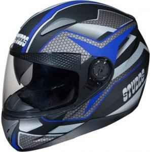 Studds Shifter D8 Motorsports Blue Full Face Helmet, Size (Large, 580 mm)