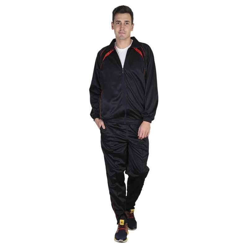 VDG T024 Black Sportswear Tracksuit, Size: 46