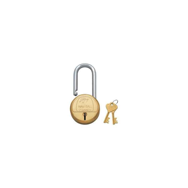 Godrej Navtal 7 Levers Brass Padlock (2 Keys), 3597