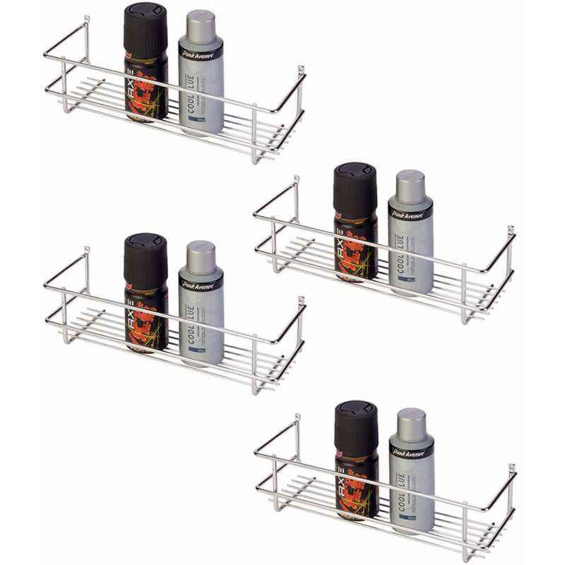 Abyss ABDY-0119 Chrome Finish Stainless Steel Bottle Rack (Pack of 4)