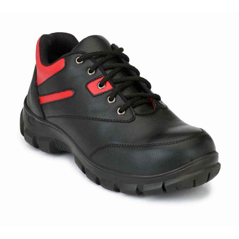 Eego Italy WW-58 Synthetic Steel Toe Black Safety Sneakers, Size: 6