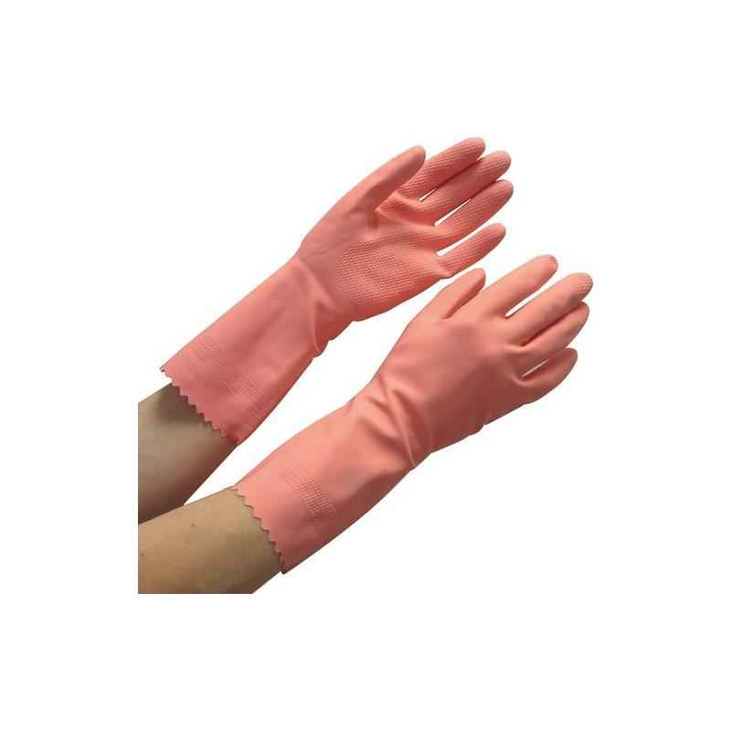 Surf Latex Rubber 621U-45 Hand Gloves, Pink (Pack of 3)