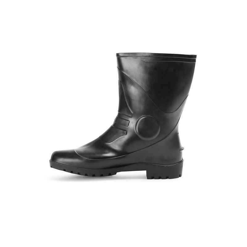 Fortune Winner 10 Inch Black PVC Safety Gumboots, Size: 10 (Pack of 5)