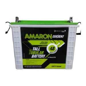 Amaron 165 Ah Tall Tubular Battery with 36 +18 Months Warranty, AAM-TT-CR00165TT