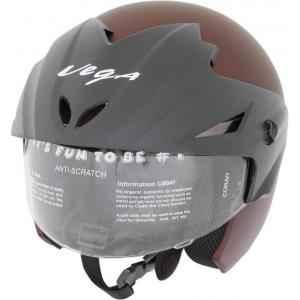 Vega Cruiser WP Dull Burgundy Motorsports Open Face Helmet, Size (Large, 600 mm)