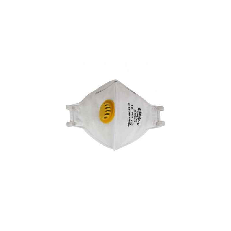 Mallcom M 1202PV White Face Mask Protective Gear With Valve (Pack of 20)