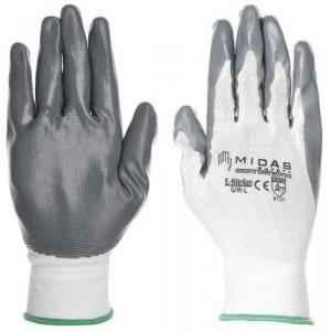 Midas GL 022 Safety Nitralon Hand Gloves, Size: 10 (Pack of 96)