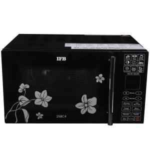 IFB 25 Litre Black Floral Design Convection Microwave Oven, 25BC4