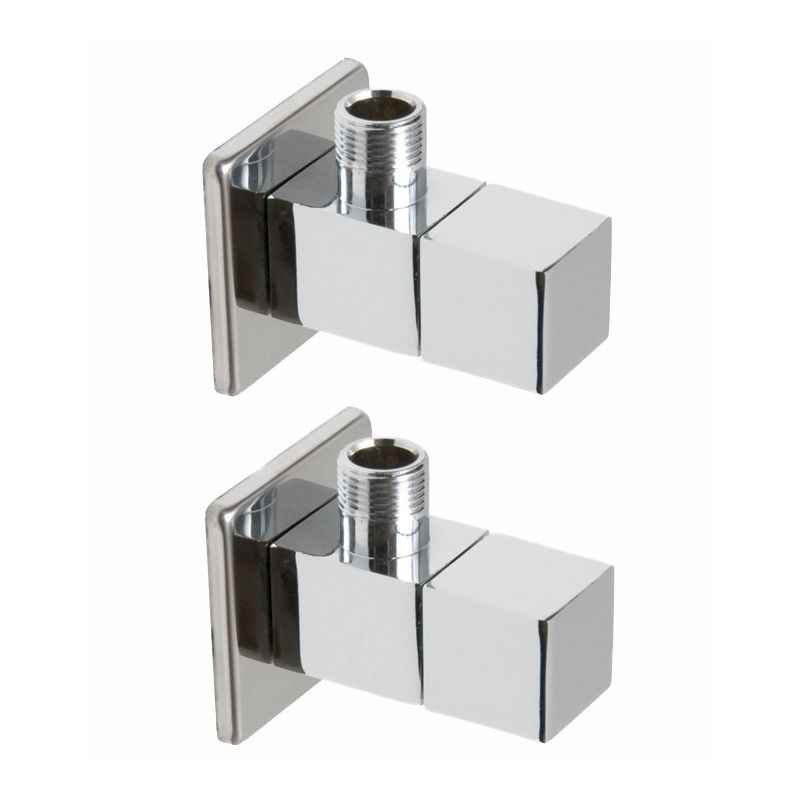 Snowbell Square Brass Angle Faucet (Pack of 2)