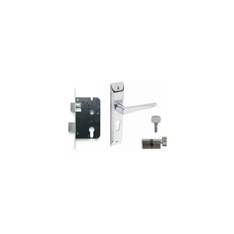 Godrej NEH 09 200mm 1CK Door Handle with Lock Set, 6690