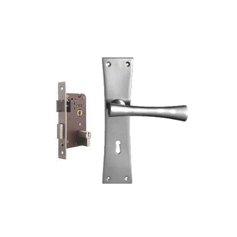Plaza Scala Stainless Steel Finish Handle with 200mm Pin Cylinder Mortice Lock & 3 Keys