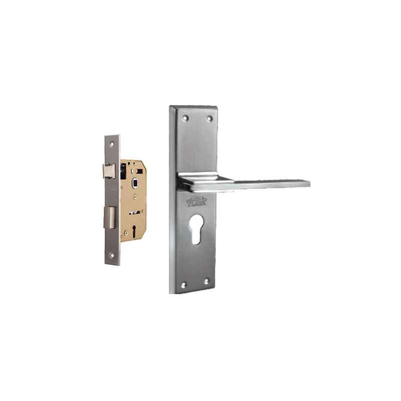 Plaza Mustang Stainless Steel Finish Handle with 65mm Mortice Lock & 3 Keys