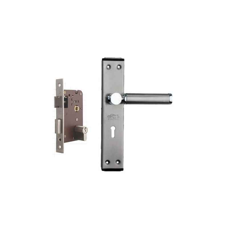 Plaza Crystal Stainless Steel Finish Handle with 200mm Pin Cylinder Mortice Lock & 3 Keys