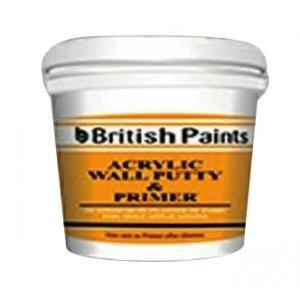 British Paints 5kg Acrylic Wall Putty Cum Primer (Poly Bucket)