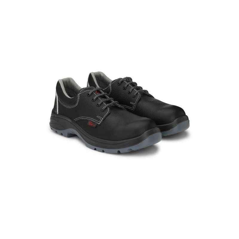 Ramer Bolt R Steel Toe Black Safety Shoes, Size: 10