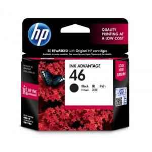 HP 46 Black Original Ink Advantage Cartridge, CZ637AA