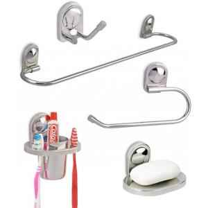 Doyours Dolphin Series Stainless Steel 5 Pieces Bathroom Accessories Set, DY-0359