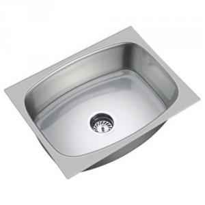 SteelKraft SS-109B Single Bowl Stainless Steel Sink, Size: 20x16 inch