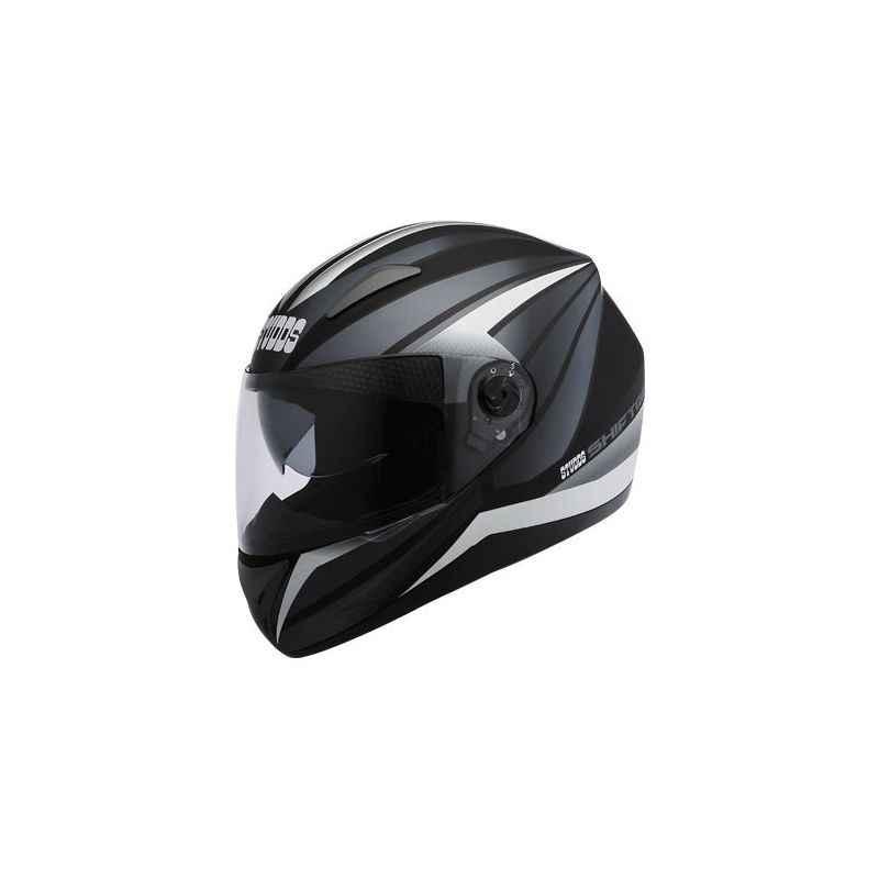 Studds Shifter D2 Matt Black Grey Full Face Bike Helmet, Size (XL, 600 mm)