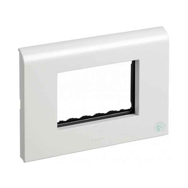 Legrand Myrius New White Plates With Frame 8 Module Plate + Frame (4x2), 6732 56