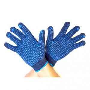 Gripwell 50g Regular Blue PVC Dotted Gloves (Pack of 100)