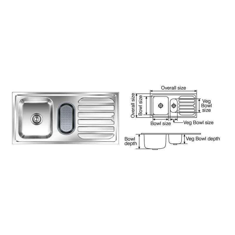 Nirali Fabulous Anti Scratch Finish Kitchen Sink, Size: 1220x510 mm