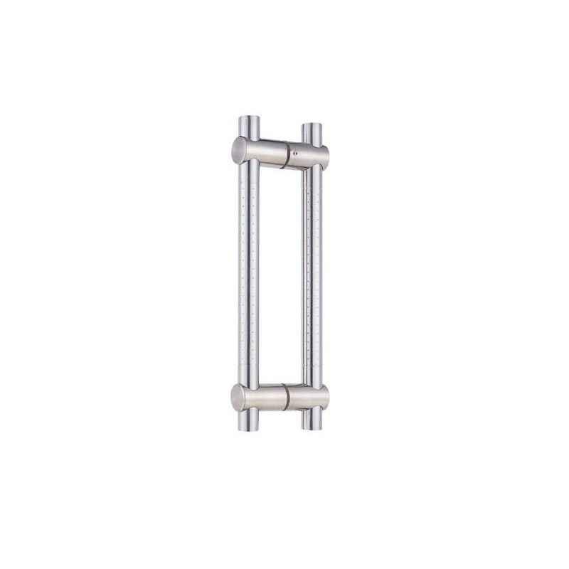 Smart Shophar 16 Inch Stainless Steel Fargo Glass Door Pipe Pull Handle Set, 73011-PPHF-NS16