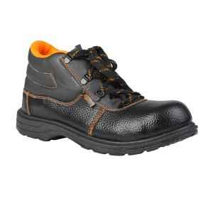 Agarson Crusher Steel Toe Black Safety Shoes, Size: 9