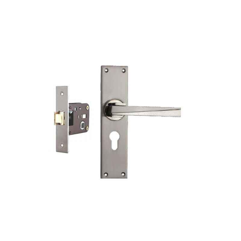 Plaza Camry Stainless Steel Finish Handle with 200mm Baby Latch Keyless Lock