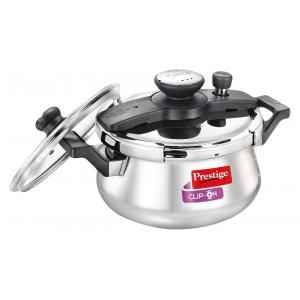 Prestige Clip on 5 Litre Stainless Steel Silver Pressure Cooker, 25655