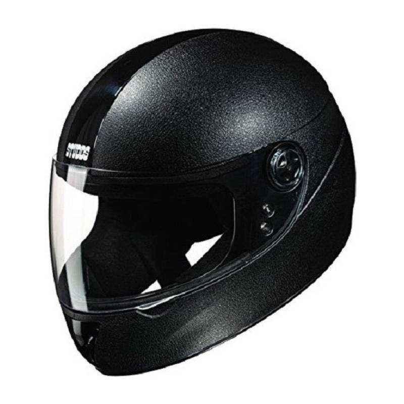 Studds Chrome Elite Motorbike Black Full Face Helmet, Size (Large, 580 mm)