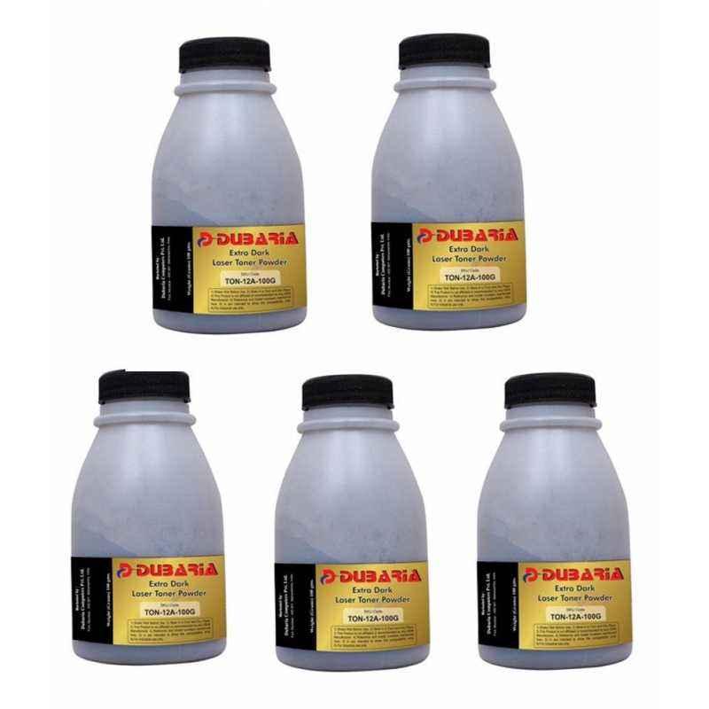 Dubaria Extra Dark Powder Toner Cartridge For HP & Canon Printers (Pack of 5)