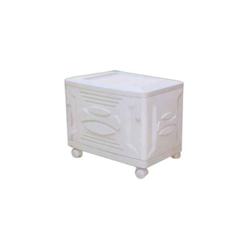 Microtek White Trolley for Inverter and Battery, Weight: 4 kg