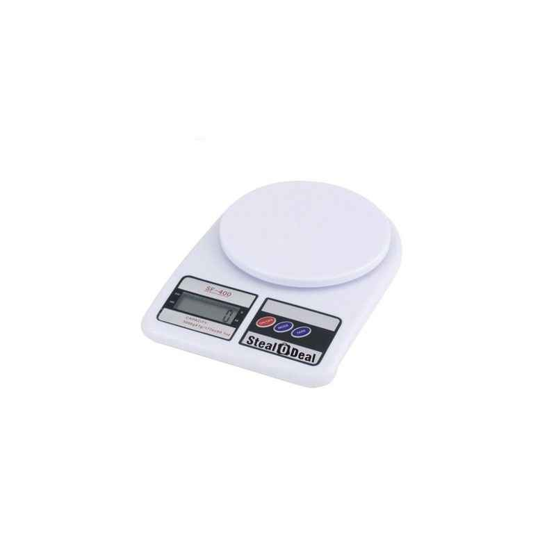 Stealodeal 5kg White Electronic Kitchen Weighing Machine, SF-400