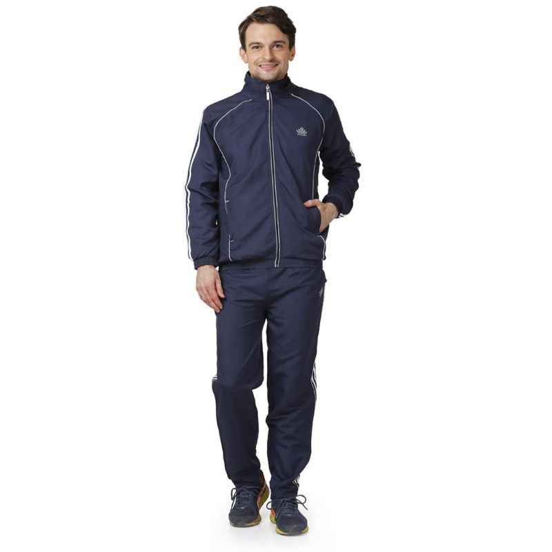 Abloom 132 Navy Blue & White Tracksuit, Size: M