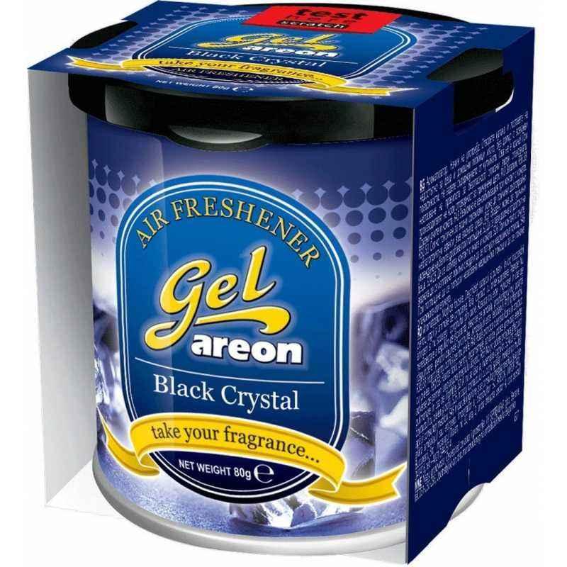 Areon 80g Black Crystal Gel Air Freshener For Car