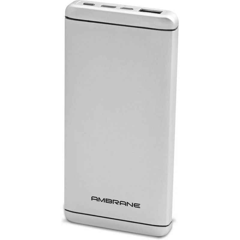 Ambrane 8000mAh Polymer White Power Bank, PQ-800