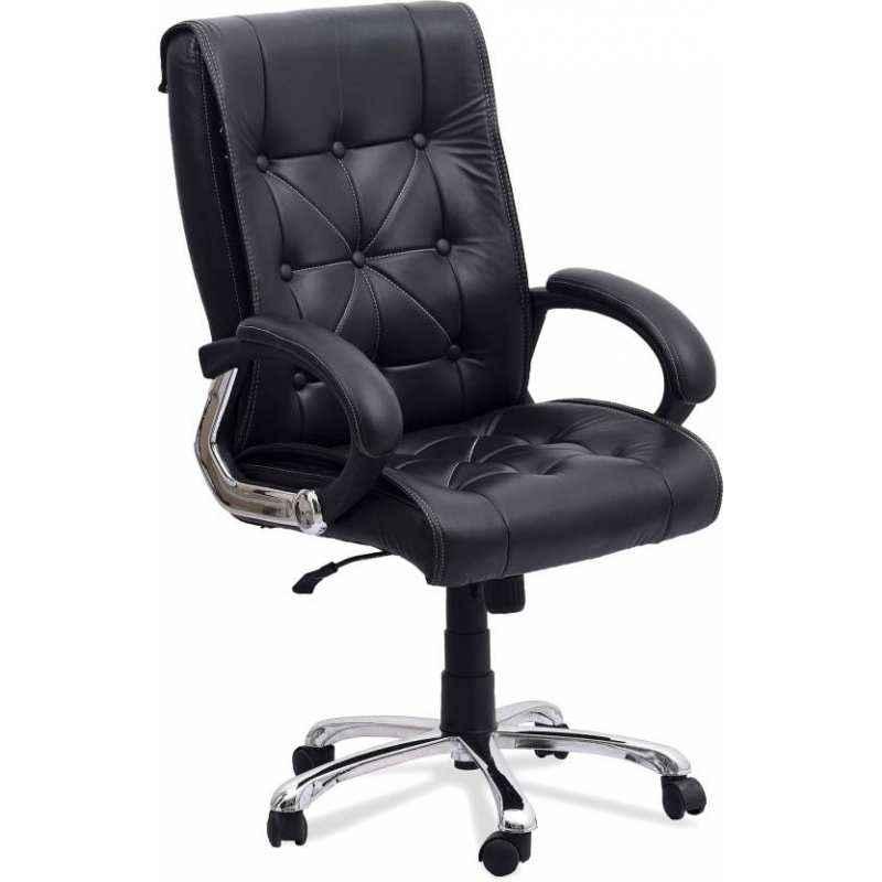 Mezonite Leatherette Black Medium Back Office Chair