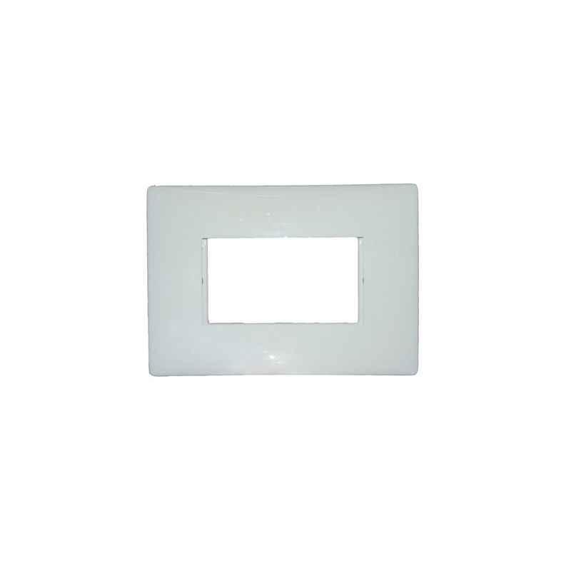 Legrand Mylinc Modular White Plates 1 Module Plate - White, 6755 63, (Pack of 3)