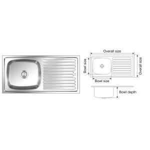 Nirali Elegance Anti Scratch Finish Kitchen Sink, Size: 915x460 mm