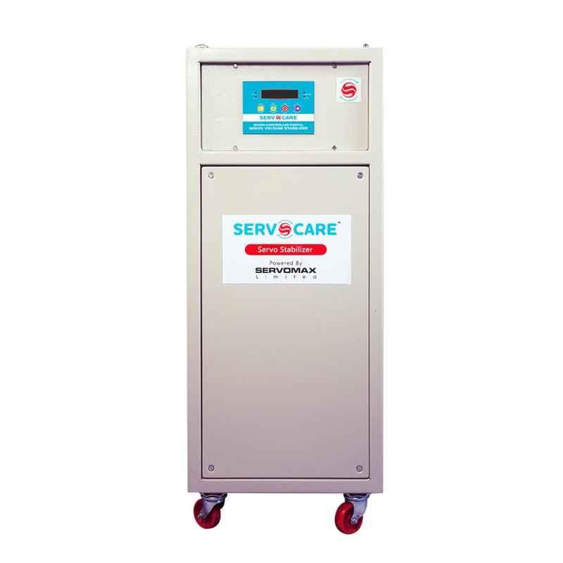 Servocare 15kVA Single Phase Air Cooled Servo Controlled Voltage Stabilizer