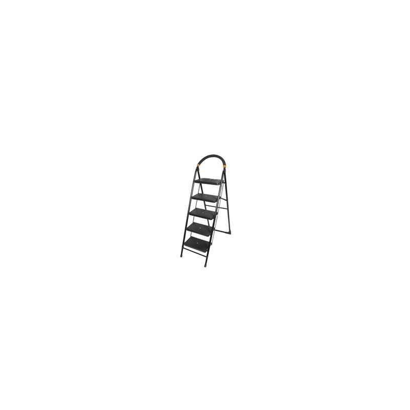 Bellstone 5 Step Black Home Ladder, Step Length: 9 Inch